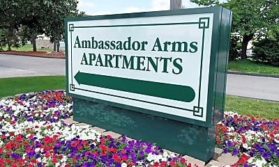 Landscaping, Ambassador Arms Apartments, 2