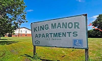 Community Signage, King Manor Apartments, 2