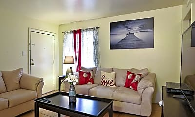Living Room, Pines Apartments, 1