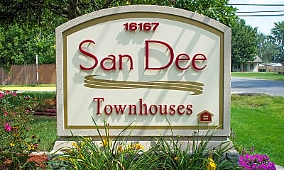 Community Signage, Sandee Townhomes, 2