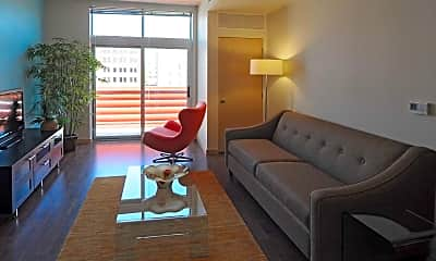 Living Room, 306 West Apartments, 1