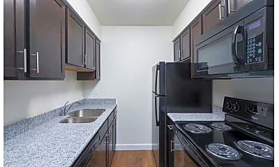 Kitchen, Green Door Apartments, 1