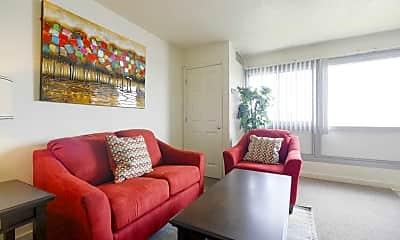 Living Room, Riverbend Apts, 1
