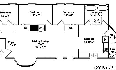 Bathroom, 1700 W Barry Ave, 2