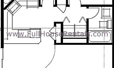 Bedroom, 1100 Q St, 2