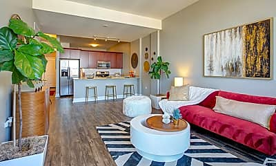 Living Room, Arrive South Loop Apartments, 1