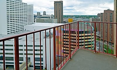 Patio / Deck, One Ten Grant Apartments, 2