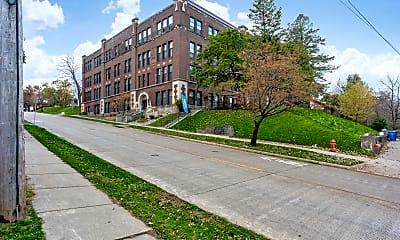 Building, Moline High School Lofts, 1
