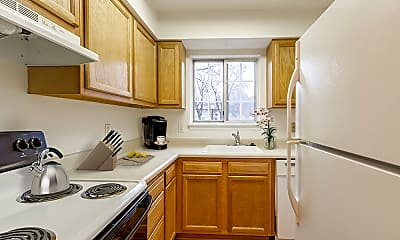 Kitchen, Elmwood Terrace Apartments and Townhomes, 1