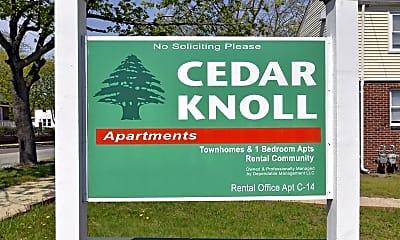 Community Signage, Cedar Knoll Apartments, 2