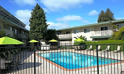 Pool, Redwood Valley Apartment Homes, 2