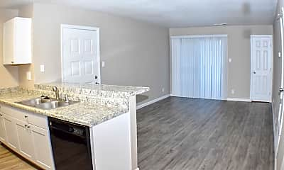 Living Room, Lakeview Apartments, 1