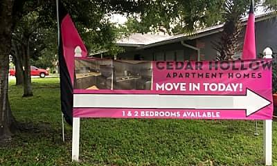 Community Signage, Cedar Hollow, 1