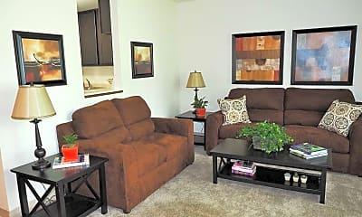 Living Room, Hampden Square Apartments, 1