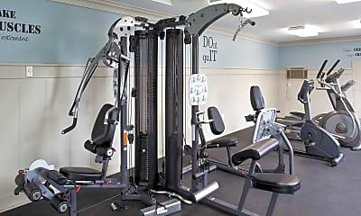Fitness Weight Room, Ashton Apartments, 2