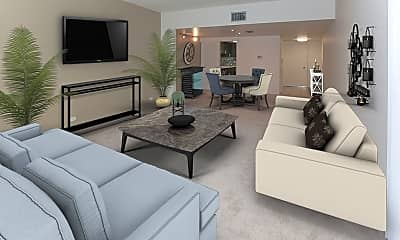 Living Room, Cascades Luxury Apartments, 1