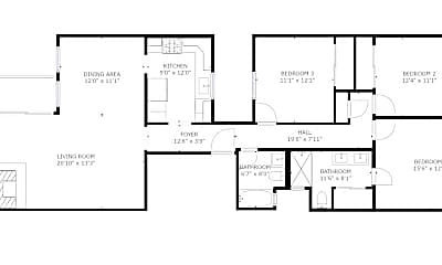 Bedroom, 1243 Clayton St, 2