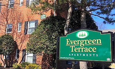 Community Signage, Evergreen Terrace Apartments, 0