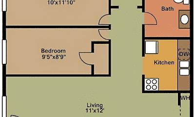 Bathroom, 1422 Main St, 2