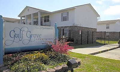 Community Signage, Gulf Grove and Oak Park Apartments, 2