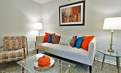 Living Room, Country Club Apartments, 0