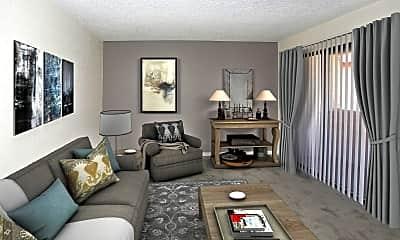 Living Room, Sandpiper Apartments, 1