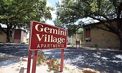 Community Signage, Gemini Village Apartments, 2