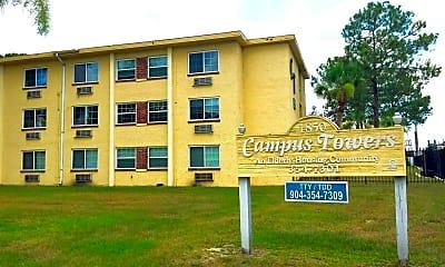 Building, Campus Towers Senior Apartments, 2