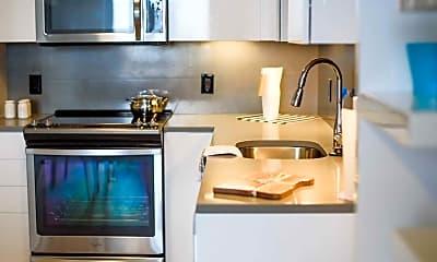 Kitchen, Q21 Apartments, 2