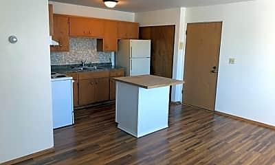Kitchen, Courtside Apartments, 0