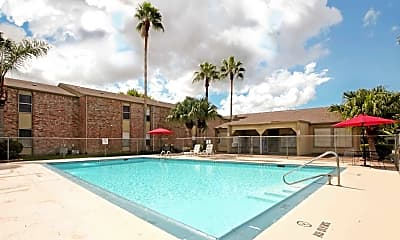 Pool, Carriage Park Apartments, 0