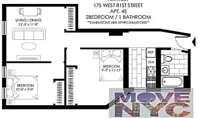 Bedroom, 173 W 81st St, 2