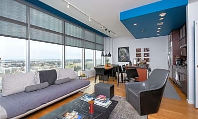 Living Room, 315 Rock St 1606, 1