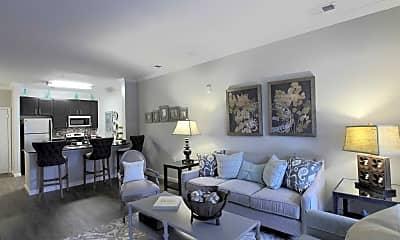 Living Room, Bacarra Apartments, 1