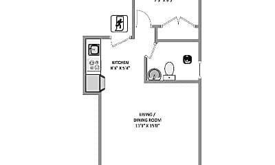 Bathroom, 463 W 19th St, 2