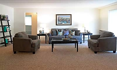 Living Room, Cherry Court Apartments, 1