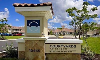 Community Signage, Courtyards at Estero, 1