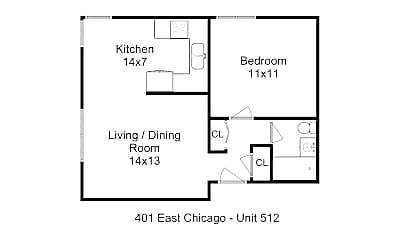 Bathroom, 401 E Chicago St, 2