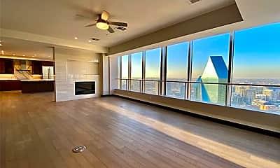 Living Room, 203 N Akard St 4605, 1