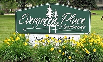 Community Signage, Evergreen Place Apartments, 1
