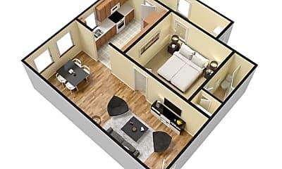 Bedroom, 215 S 300 E, 2