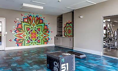 Fitness Weight Room, The Collective Apartments, 2