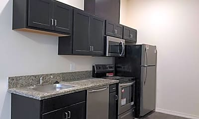 Kitchen, Cathedral Flats Apartments, 0
