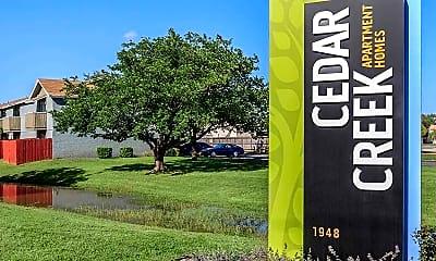 Community Signage, Cedar Creek, 1