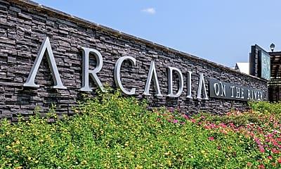 Community Signage, Arcadia on the River, 2