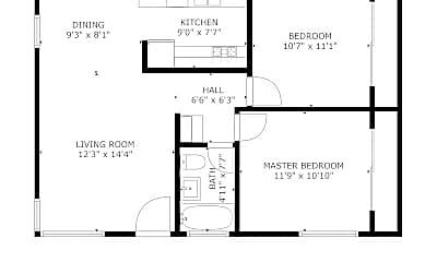 Bathroom, 229 D Ave, 2