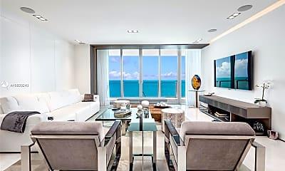 Living Room, 360 Ocean Dr 804S, 1
