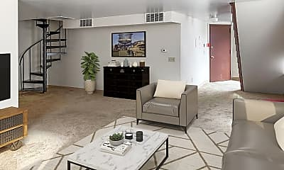 Living Room, Foundry Apartments, 1