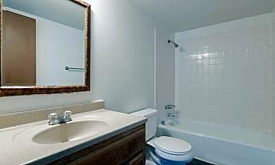 Bathroom, Crest Manor Apartments, 2