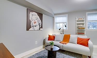 Living Room, 1408 Florida Ave NW, 1